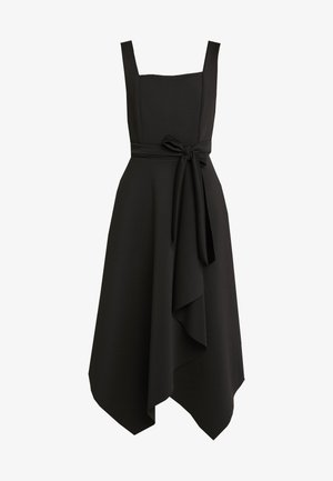 SQUARE NECKLINE TIE DRESS - Vestito di maglina - black