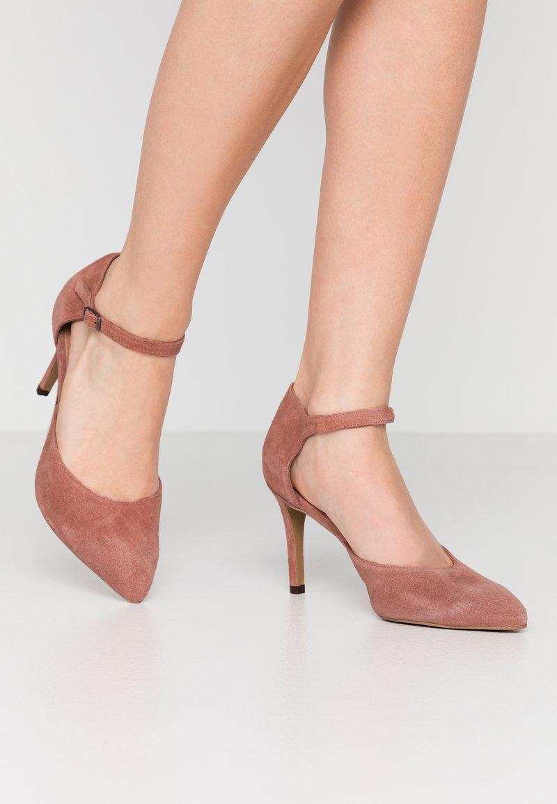 Bianco - BIACAIT ANKLE STRAP - High heels - powder