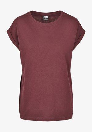 T-shirt - bas - redwine