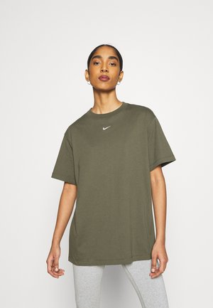 Basic T-shirt - cargo khaki/white