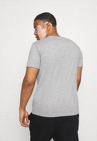 LTB - 3 PACK - Basic T-shirt - black/olive/grey melange - 3
