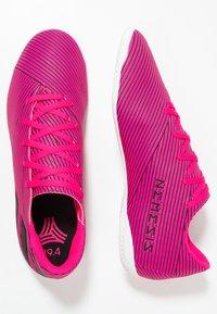 adidas Performance - NEMEZIZ 19.4 IN - Indoor football boots - shock pink/core black - 1