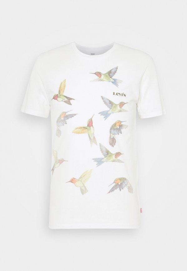 Levi's® GRAPHIC CREWNECK TEE - T-shirt z nadrukiem - off-white/mleczny Odzież Męska SXKV
