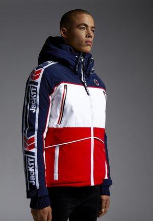 STREET - Gewatteerde jas - navy/white/red