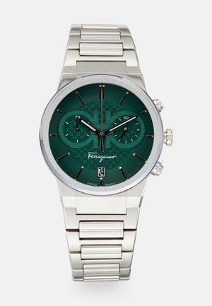 Chronograaf - silver-coloured/green