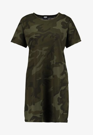 LADIES CAMO TEE DRESS - Jerseyjurk - olive