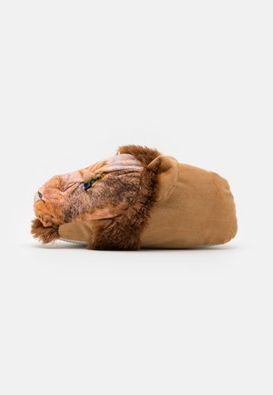 LION SLIPPER - Slippers - brown