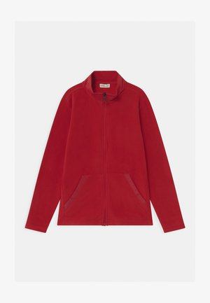 SOLID FULL ZIP - Fleece jacket - haute red
