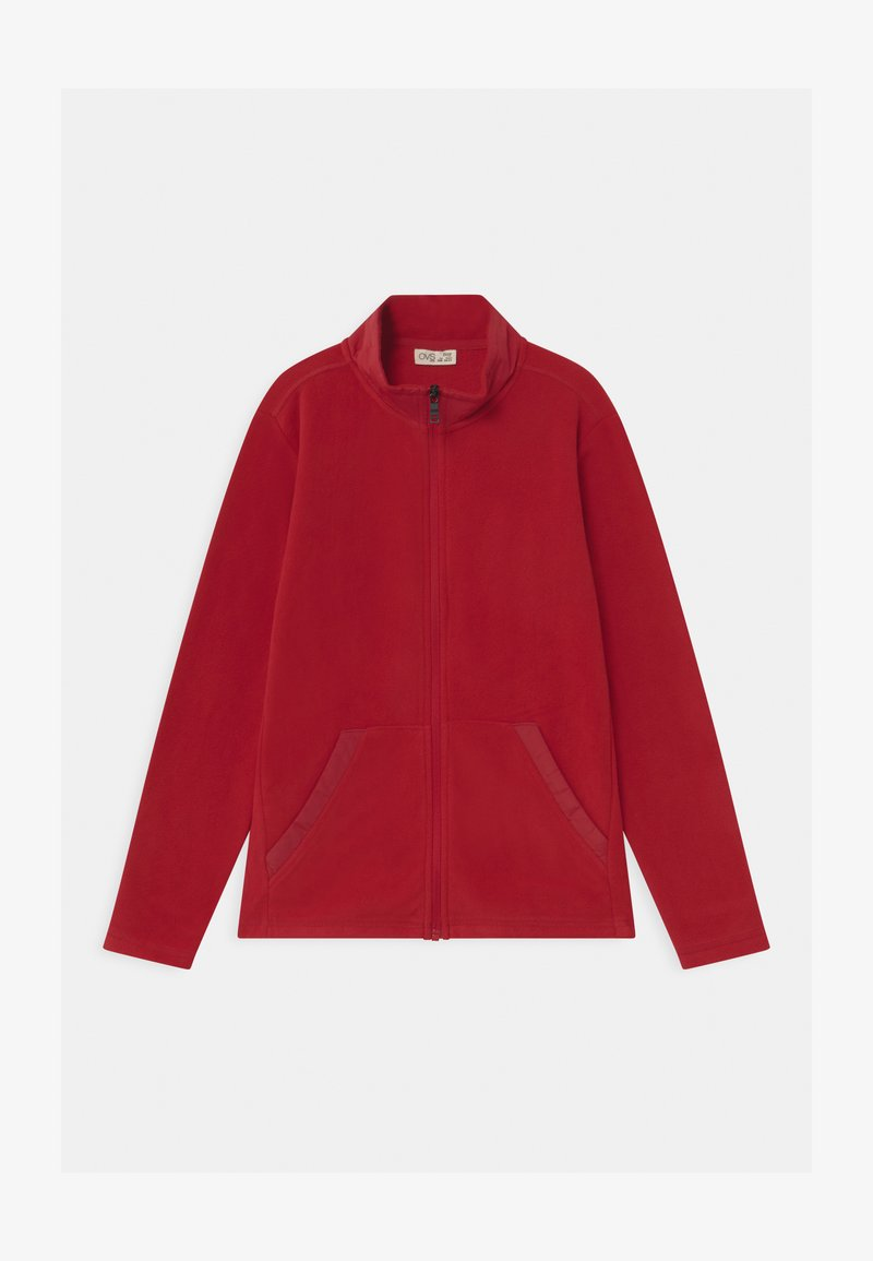 OVS - SOLID FULL ZIP - Fleece jacket - haute red