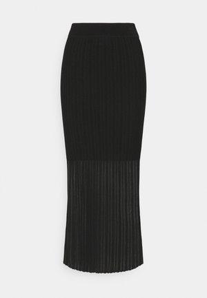 SHOREE - Maxi skirt - black