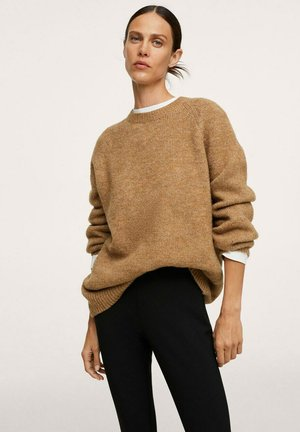 PUNTO OVERSIZE - Sweter - medium brown