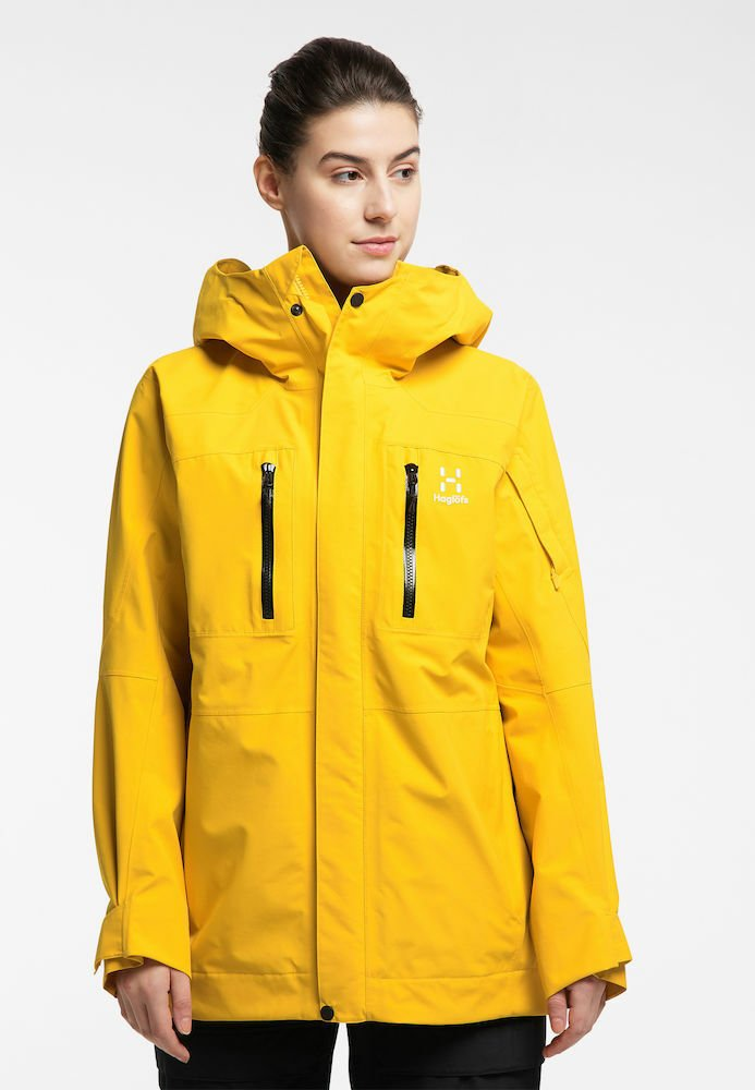 Haglöfs - ELATION GTX JACKET  - Snowboard jacket - pumpkin yellow