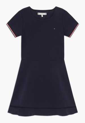 ESSENTIAL SKATER - Jersey dress - blue