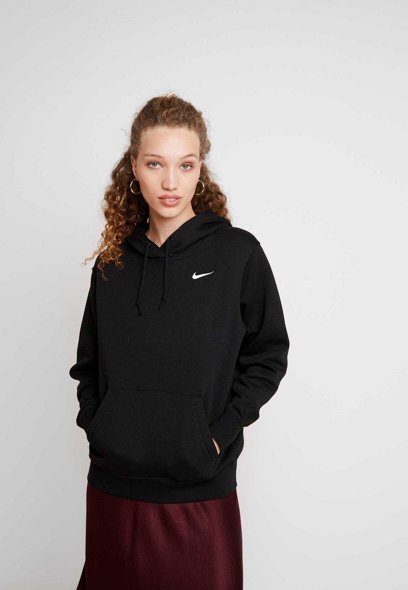 Nike Sportswear - W NSW HOODIE FLC TREND - Bluza z kapturem - black/white