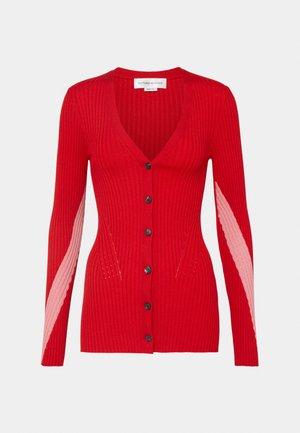 CARDIGAN - Strickjacke - bright red/pink
