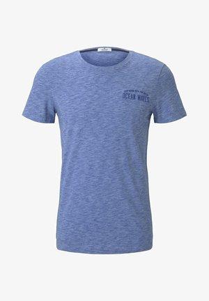 Print T-shirt - violet blue coloured melange