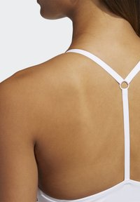 adidas Performance - BRA - Light support sports bra - white/black - 5