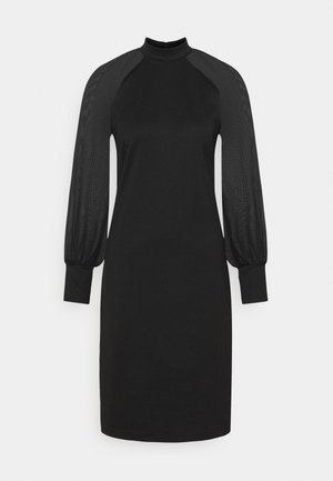 DENA SOLID - Shift dress - black