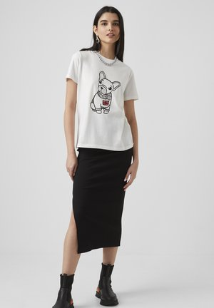 BULL DOG  - T-shirt print - winter white