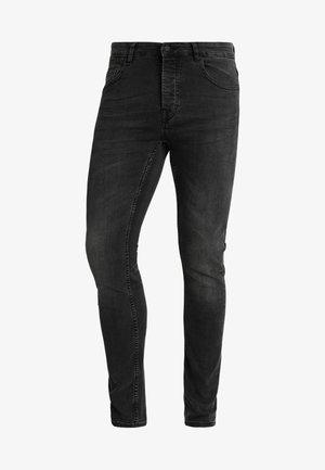 ONSLOOM BLACK WASHED - Zúžené džíny - black denim