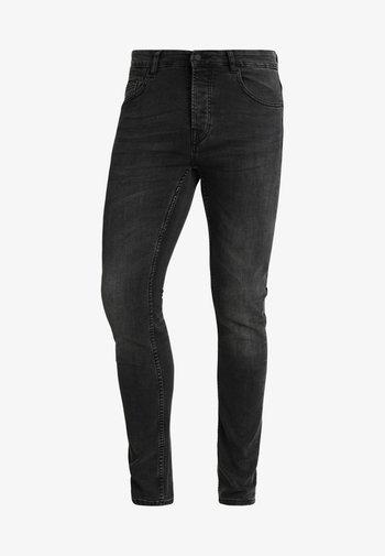 ONSLOOM BLACK WASHED - Jeans Tapered Fit - black denim