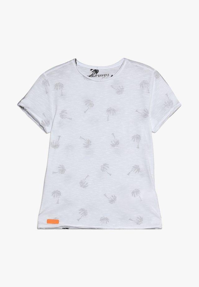 BOYS PALMEN ALLOVER - T-shirt print - schneeweiss
