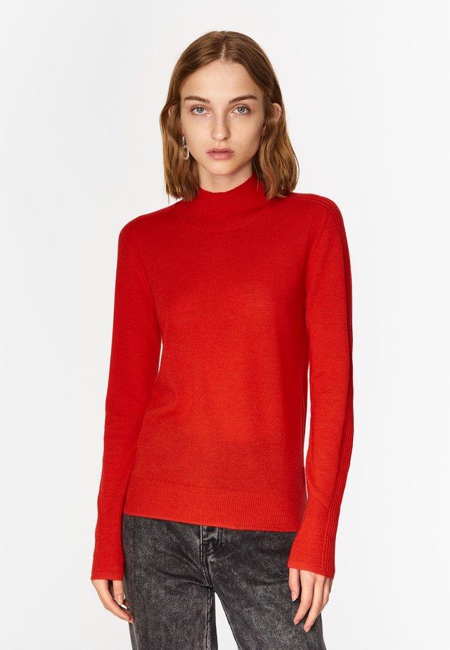 RED MERINO HIGH NECK  - Jumper - red