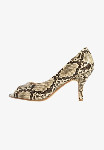 CECILIA - Peep toes - beige melange