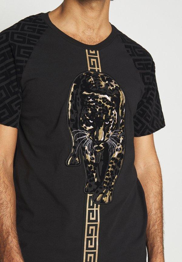 Glorious Gangsta HATHIAT - T-shirt z nadrukiem - black/czarny Odzież Męska FHNV