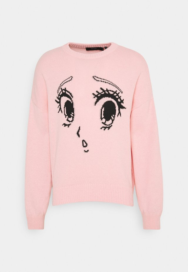 GALLUCKS X NU IN COLLECTION FRONT PRINTED OVERSIZED JUMPER - Maglione - pink