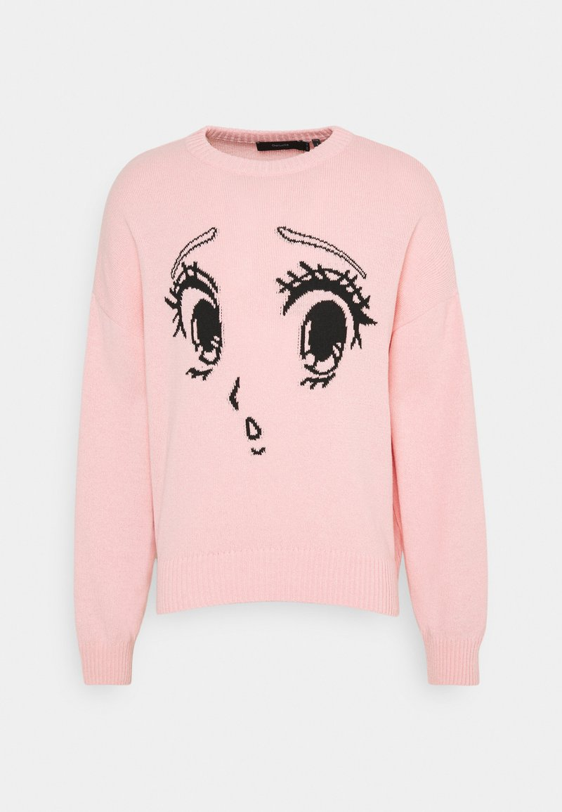 NU-IN - GALLUCKS X NU IN COLLECTION FRONT PRINTED OVERSIZED JUMPER - Pullover - pink