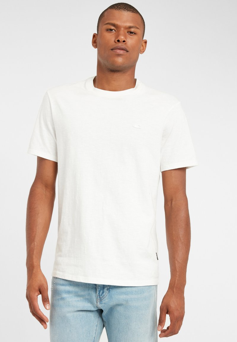 O'Neill - TEES S/SLV OLD SCHOOL - Basic T-shirt - powder white