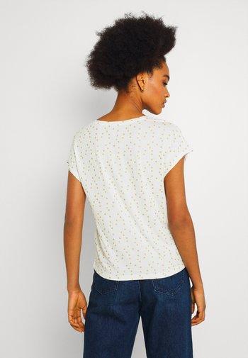 ONLMANYA GLITTER V NECK  - Print T-shirt - cloud dancer