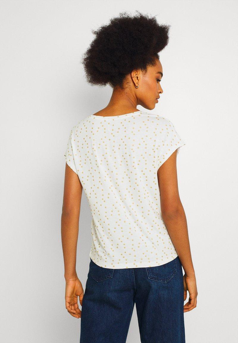ONLY - ONLMANYA GLITTER V NECK  - Print T-shirt - cloud dancer
