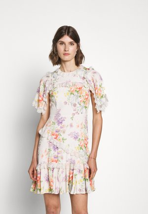 FLORAL DIAMOND ELSA MINI DRESS - Cocktail dress / Party dress - champagne