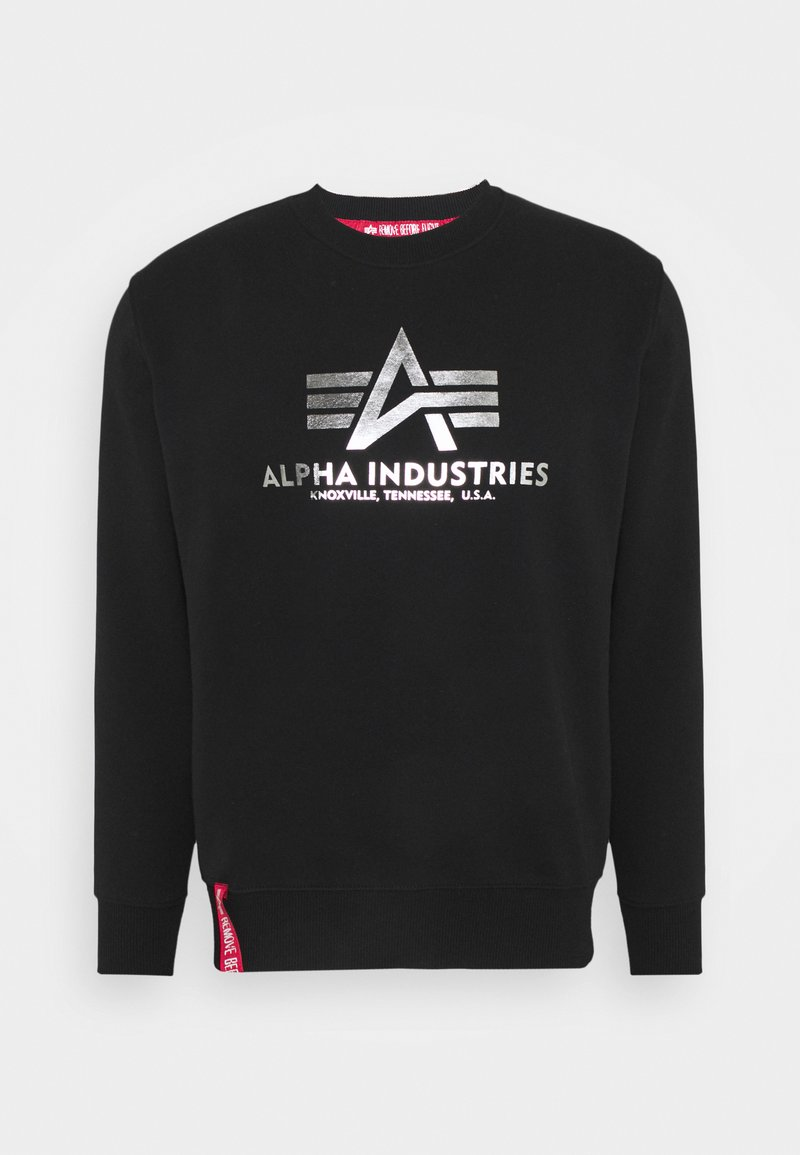 Alpha Industries - BASIC - Sweatshirt - black/metalsilver