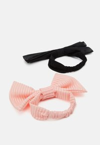 WAUW CAPOW by Bangbang Copenhagen - BOW HEADBAND 2 PACK - Akcesoria do stylizacji włosów - pink/black - 1
