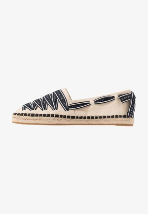 LOGO GROSGRAIN - Espadrillot - cream/perfect black