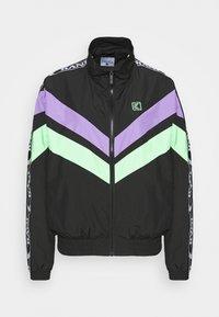 Karl Kani - TAPE BLOCK TRACKJACKET  - Training jacket - blacklilacgreen - 4