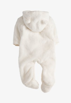 ECRU COSY FLEECE BEAR PRAMSUIT (0MTHS-2YRS) - Jumpsuit - off-white