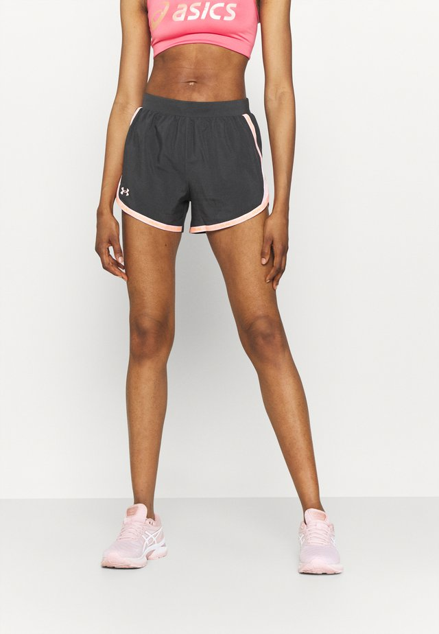 FLY BY 2.0 BRAND SHORT - Sports shorts - jet gray