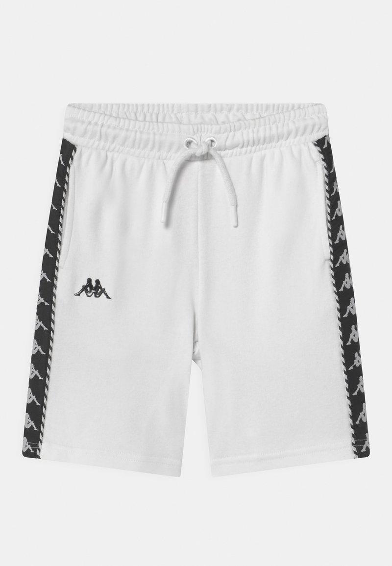 Kappa - ITALO UNISEX - Pantaloncini sportivi - bright white