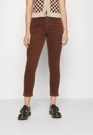 Tygbyxor - brown dark brown