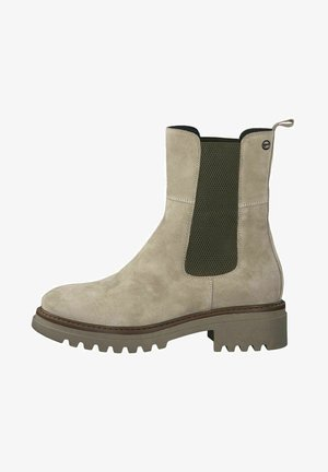 Classic ankle boots - beige s./olive
