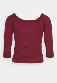Dorothy Perkins Petite - THREE QUARTER SLEEVE BARDOT 2 PACK - Long sleeved top - black - 8