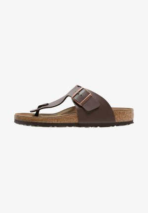 RAMSES - T-bar sandals - dunkelbraun