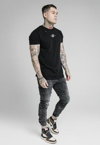 SIKSILK - ELASTICATED CUFF - Jeans slim fit - washed grey - 1