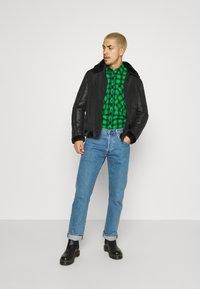 Brave Soul - CAESAR - Faux leather jacket - black - 1