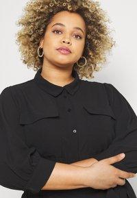 ONLY Carmakoma - CARNOVA LONG SHIRT DRESS SOLID - Shirt dress - black - 3