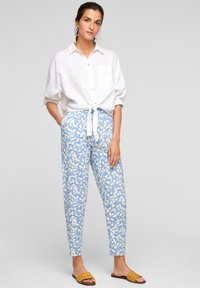 s.Oliver - Trousers - blue lagoon aop - 1